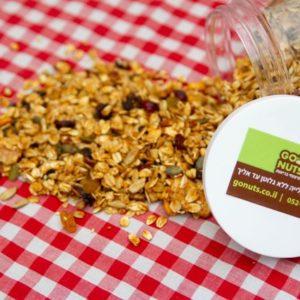 גרנולה טבעית ללא סוכר 650 גרם