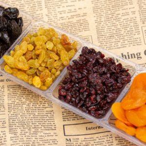 מגש פירות יבשים מלבני