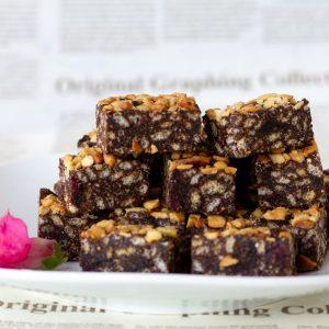 חטיף שוקולד חמוציות וקשיו טבעוני